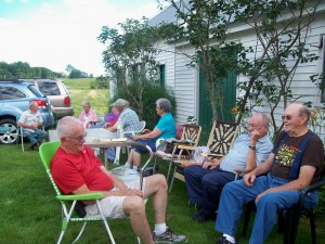 Thirty members of Danville Junction Grange met this last week at the Hatch Farm in Wales for their annual picnic.  It was a wonderful evening of delicious food, fun, and fellowship, as seen in the picture!