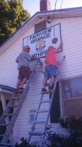 Thanks to Issac Brown and Rick Watson for helping make the sign swap.