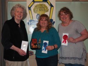 White Rock Grange in Gorham recently conducted their first annual chili contest. L-R Ann Rust – Third Place, Terri Sampson – First Place, and Gerri-Lynn Rapp – Second Place