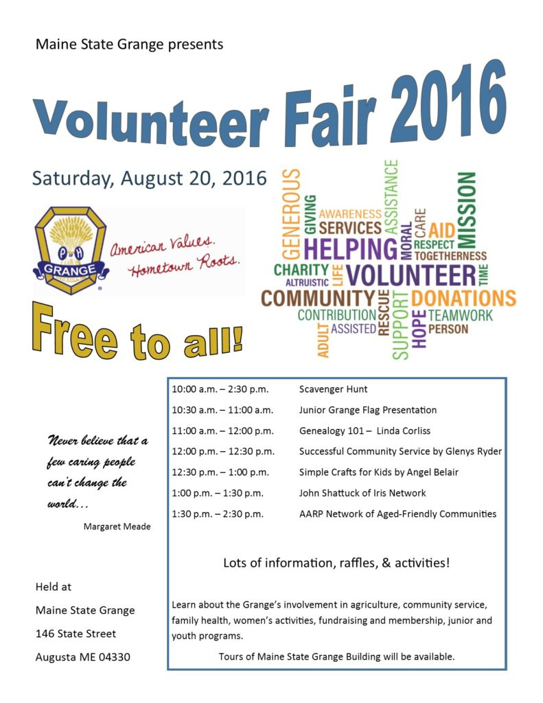 2016 Volunteer Fair Flyer